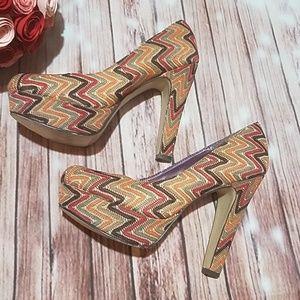 Madden Girl Multicolored Platform Heels